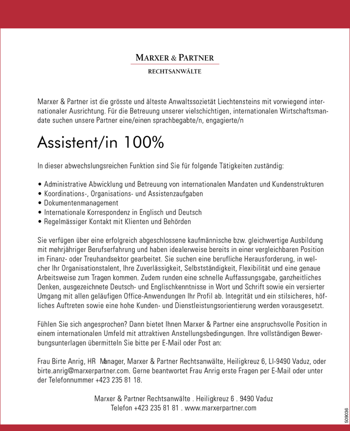 Assistent/in