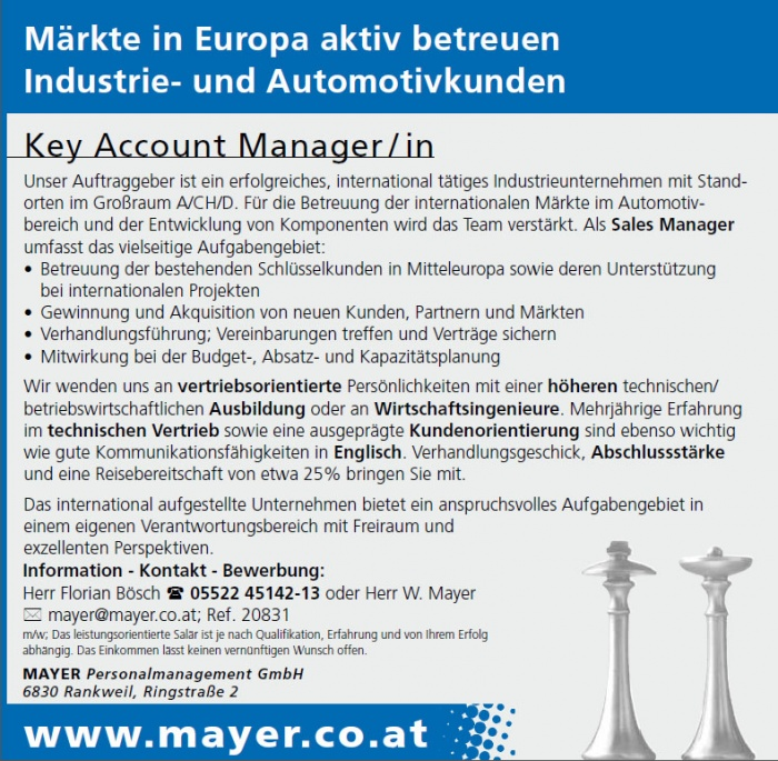 Key Account Manager / in