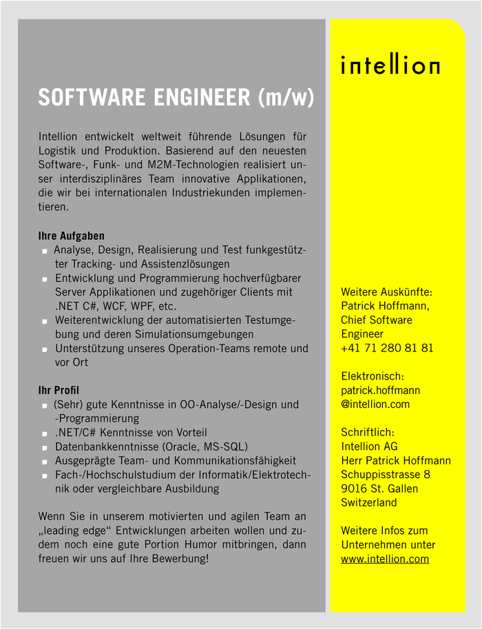 Software Engineer (m/w)