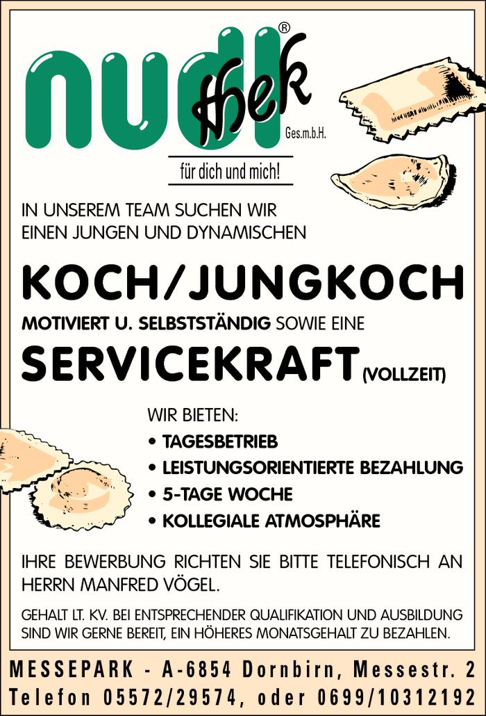 Koch jungkoch k chin servicekraft dornbirn jobs in for Koch gehalt netto