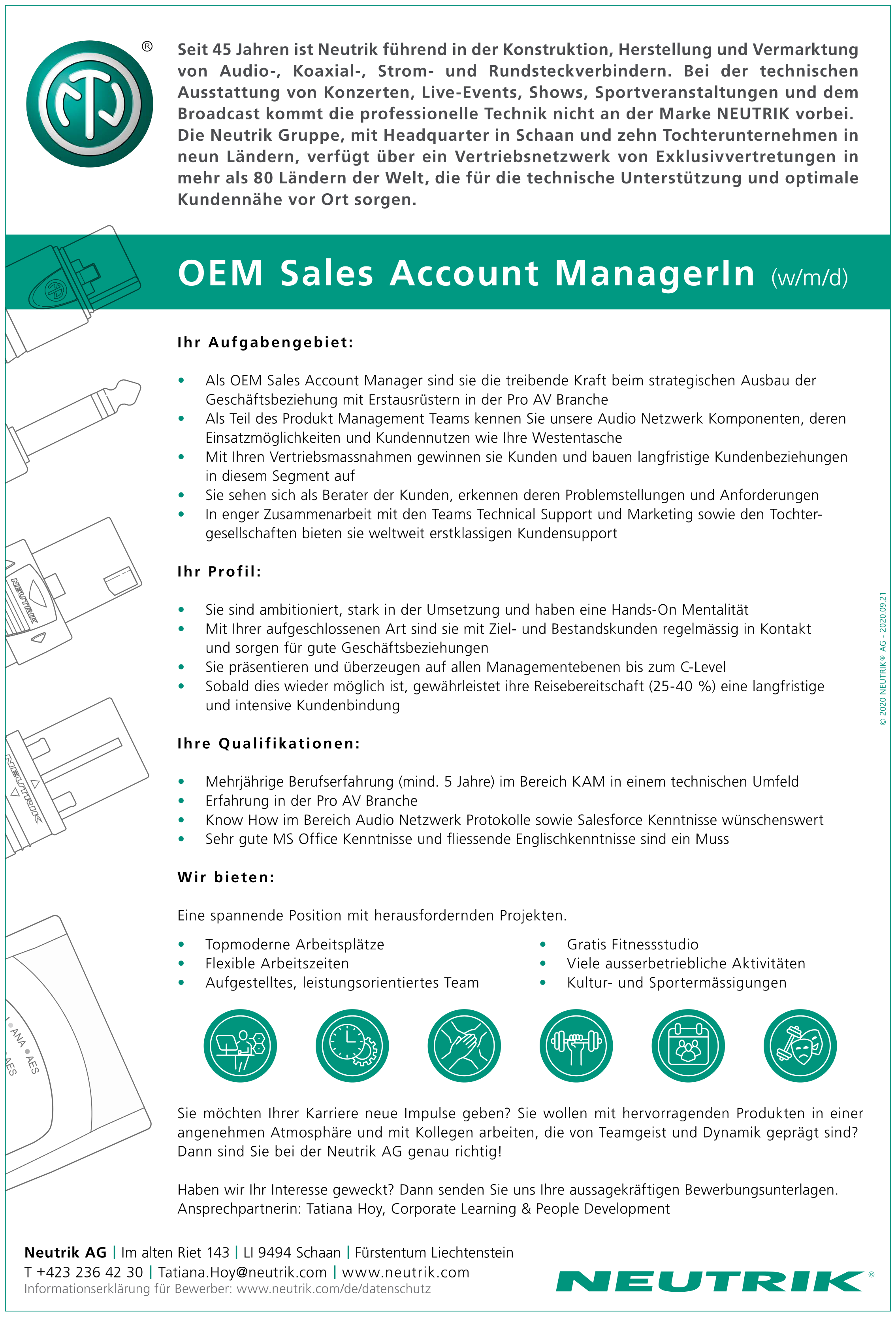 OEM Sales Account ManagerIn (w/m/d)