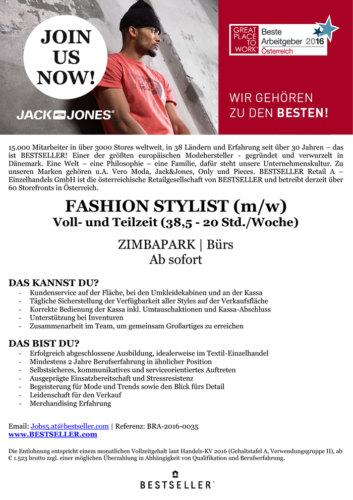 FASHION STYLIST (m/w)