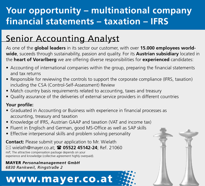 Senior Accounting Analyst