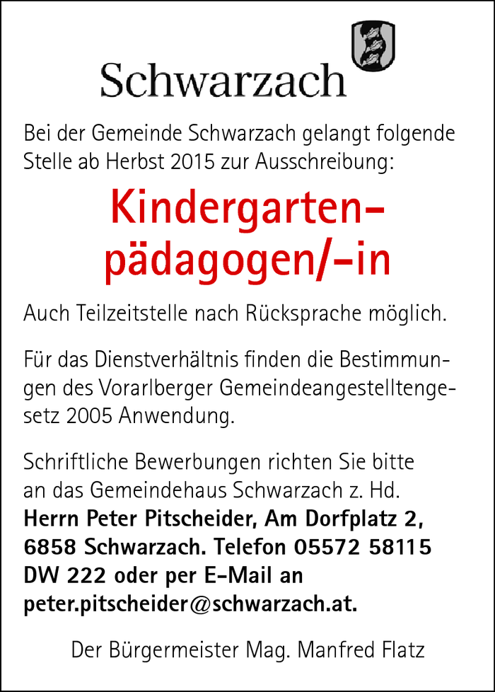 Kindergartenpädagoge/in