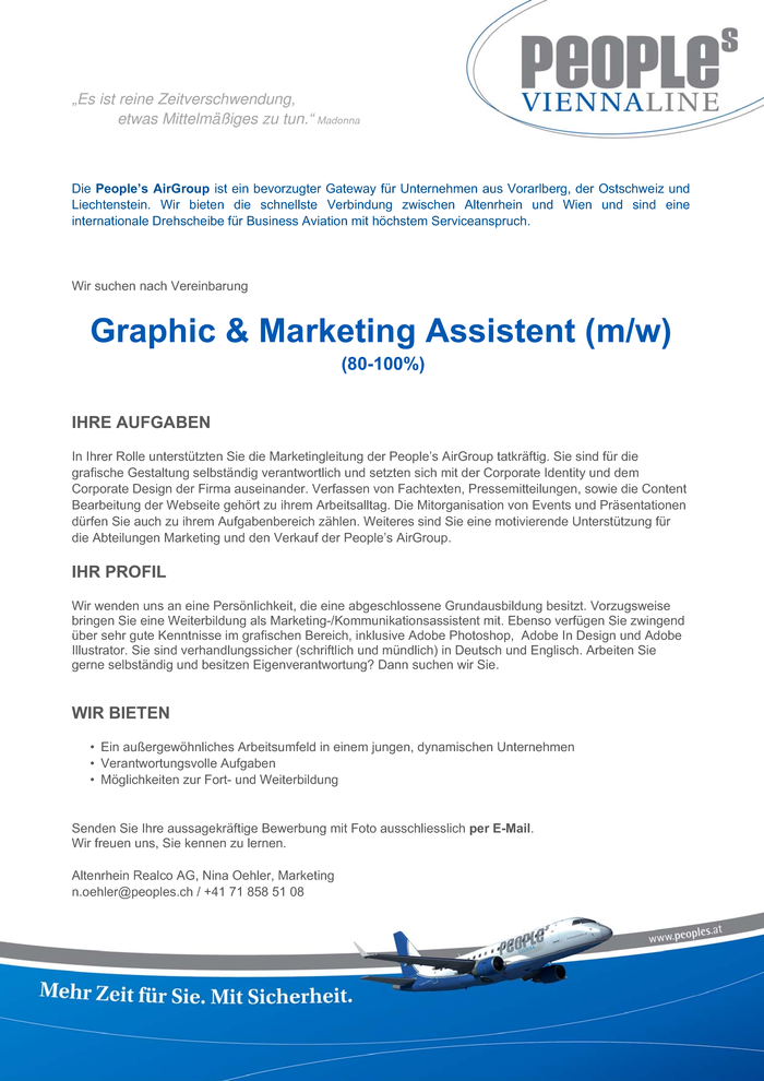 Graphic & Marketing Assistent (m/w)