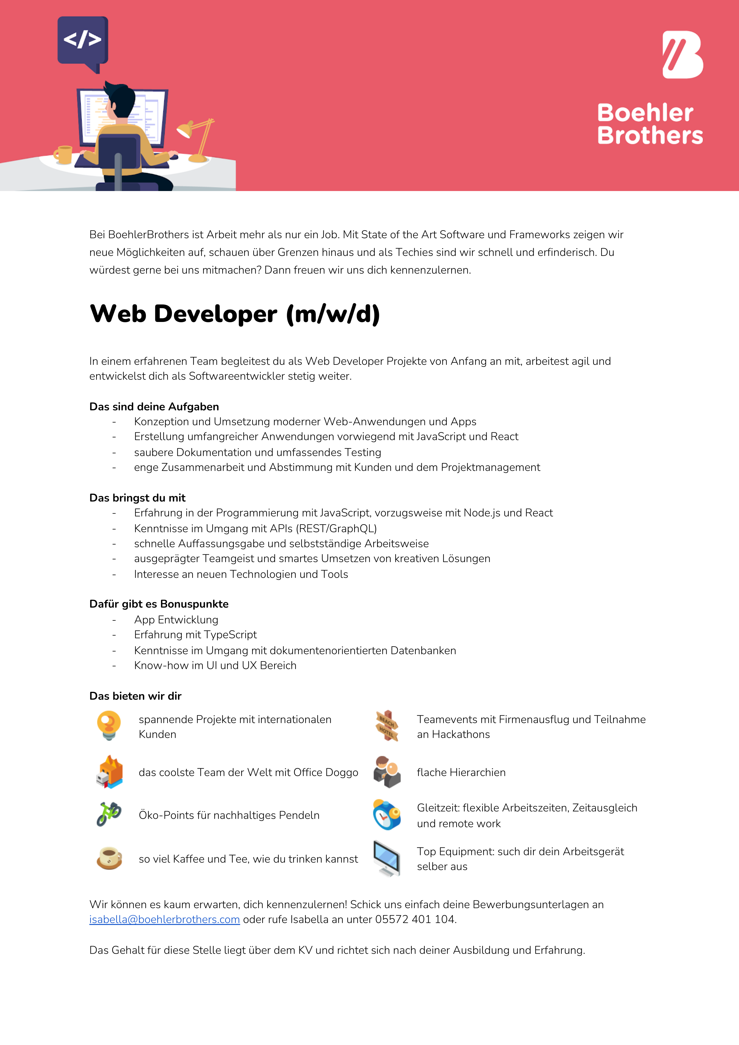 Web Developer (m/w/d)