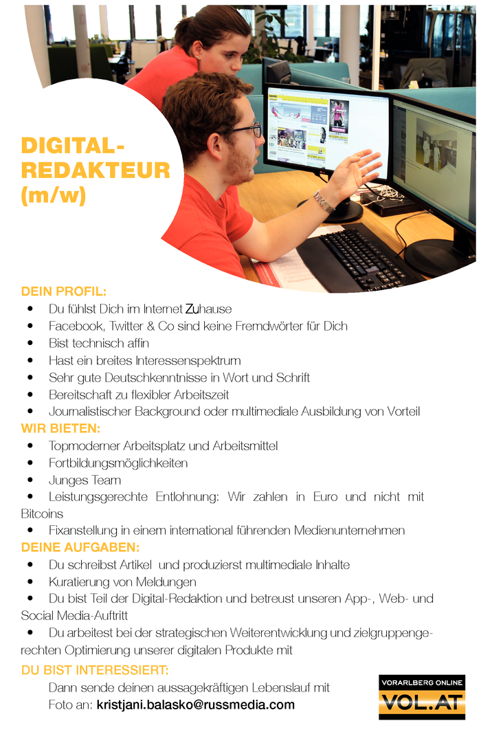DIGITALREDAKTEUR (m/w)