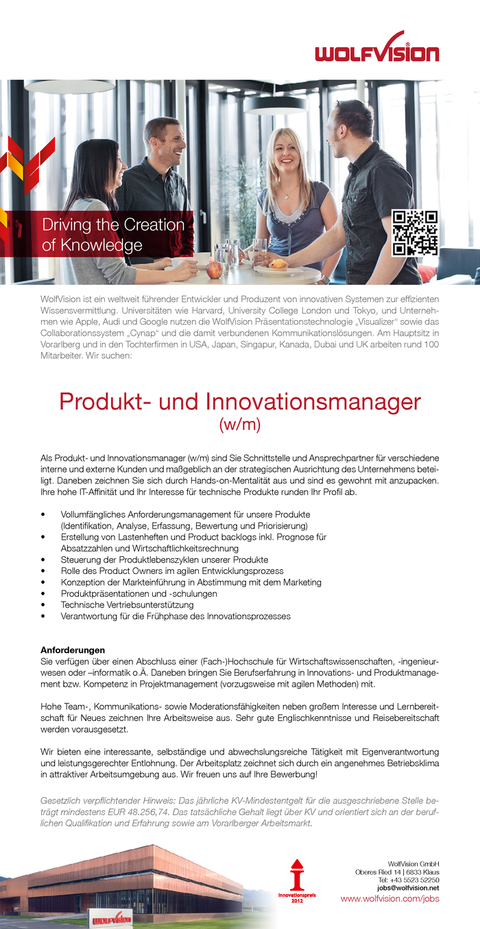 Produkt- und Innovationsmanager (w/m)