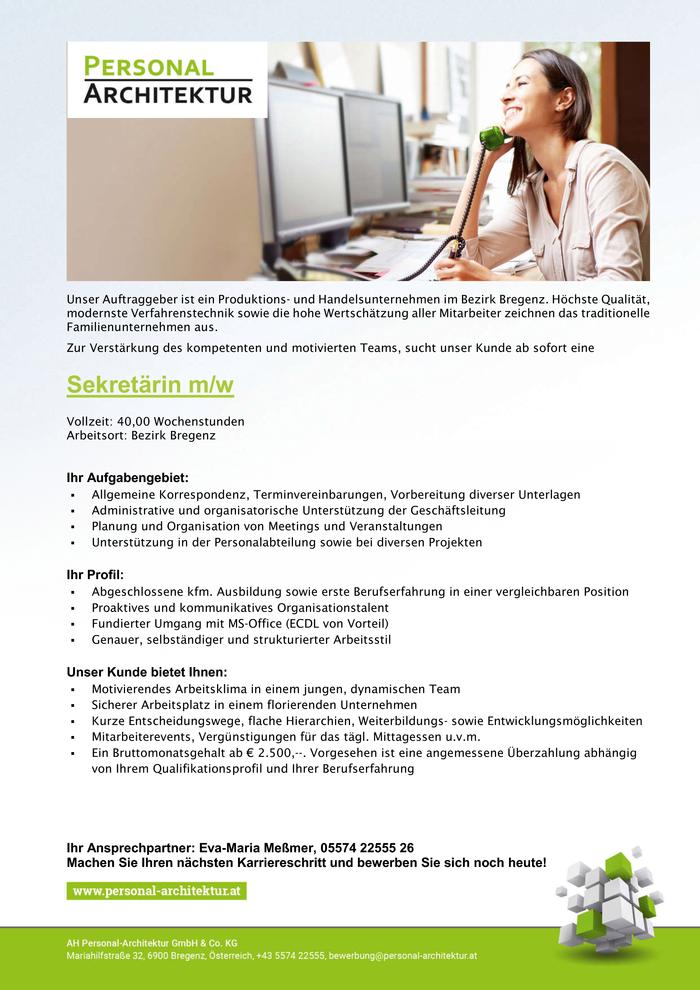 sekretrin - Bewerbung Sekretarin