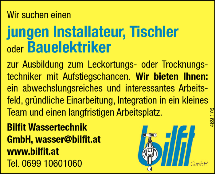 Leckortungs- oder Trocknungstechniker/in