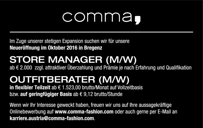 Store Manager/in, Outfitberater/in