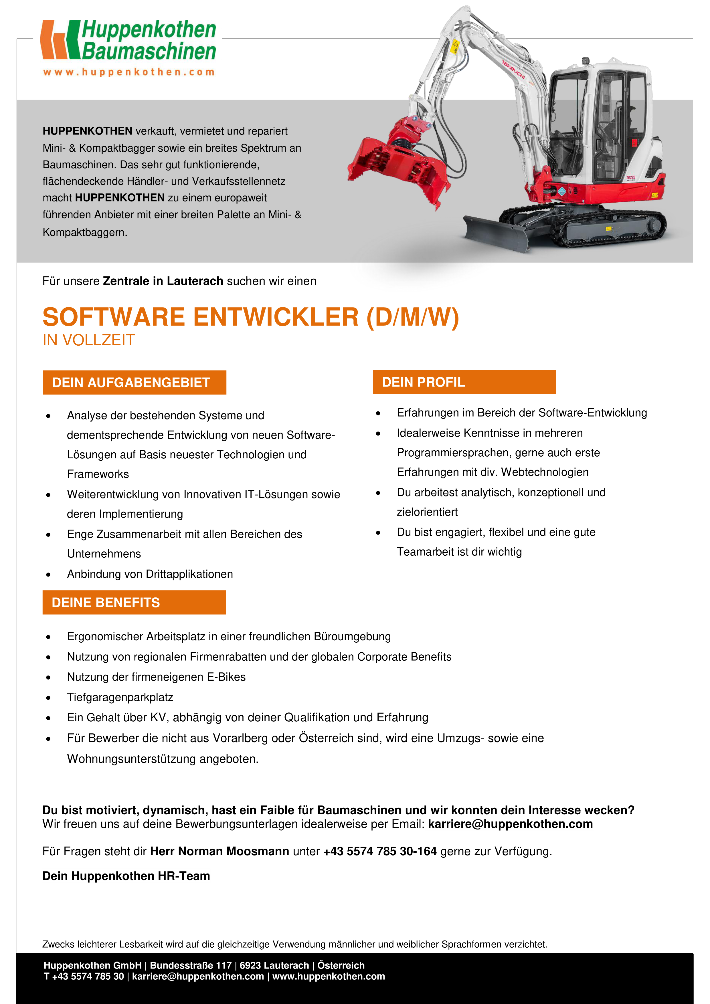 Software Entwickler (d/m/w)