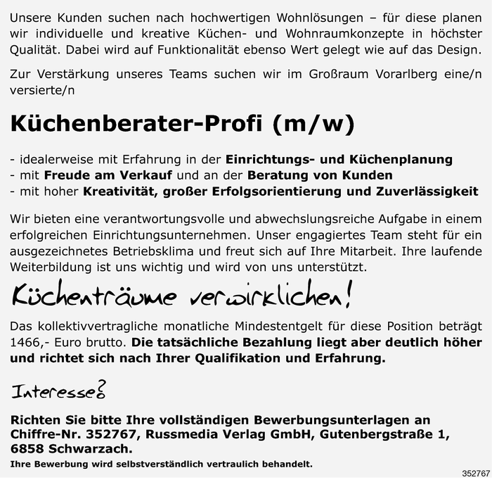 Küchenberater/in