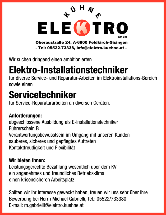 Elektroinstallations-Techniker