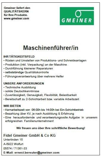 kandidat - Bewerbung Als Maschinenfuhrer