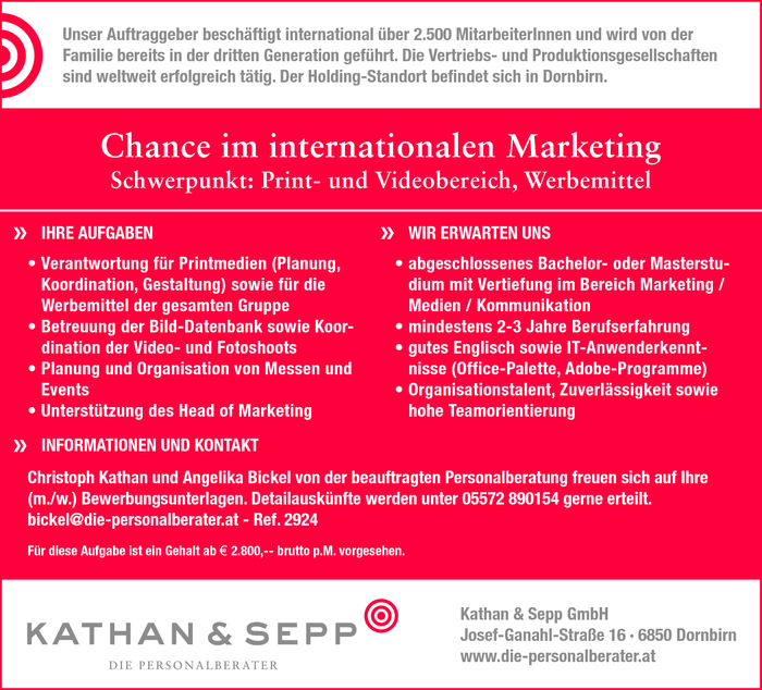 Chance im internationalen Marketing