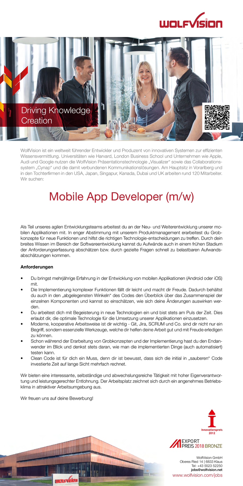 Mobile App Developer (m/w)
