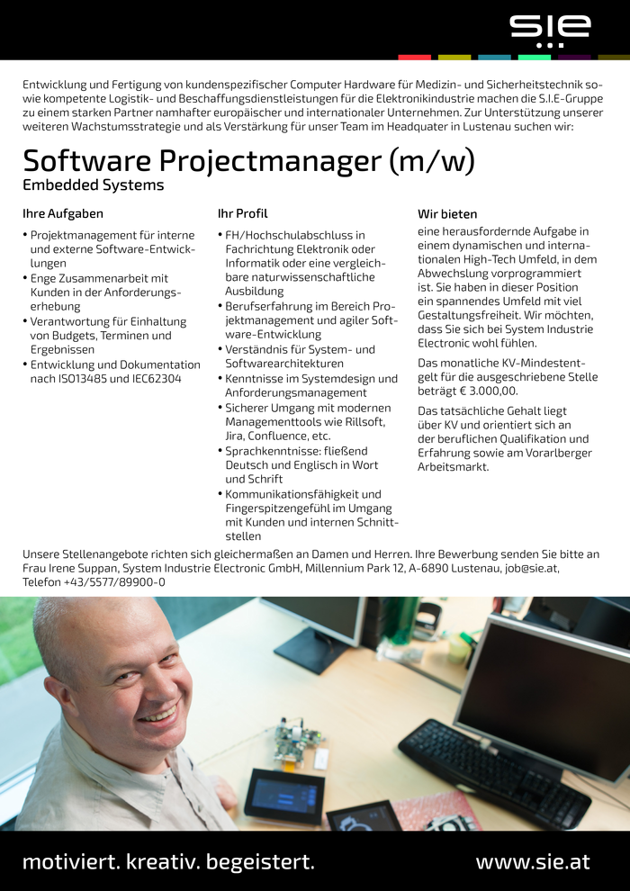 Software Projectmanager Embedded Systems (m/w)