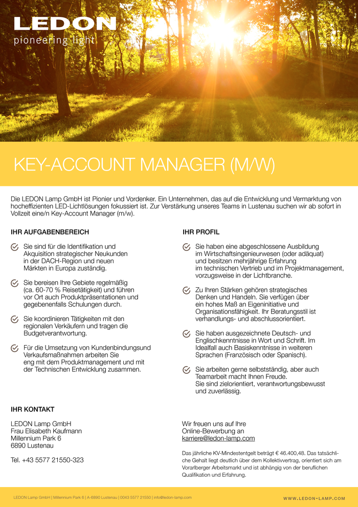 KEY-ACCOUNT MANAGER (m/w)