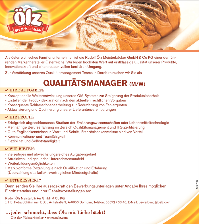 Qualitätsmanager/in