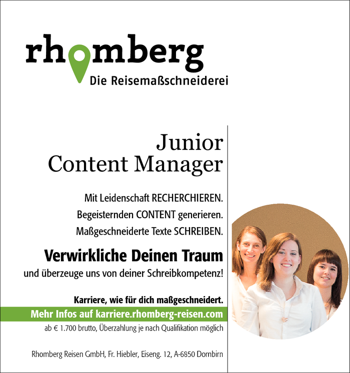 Junior Content Manager/in