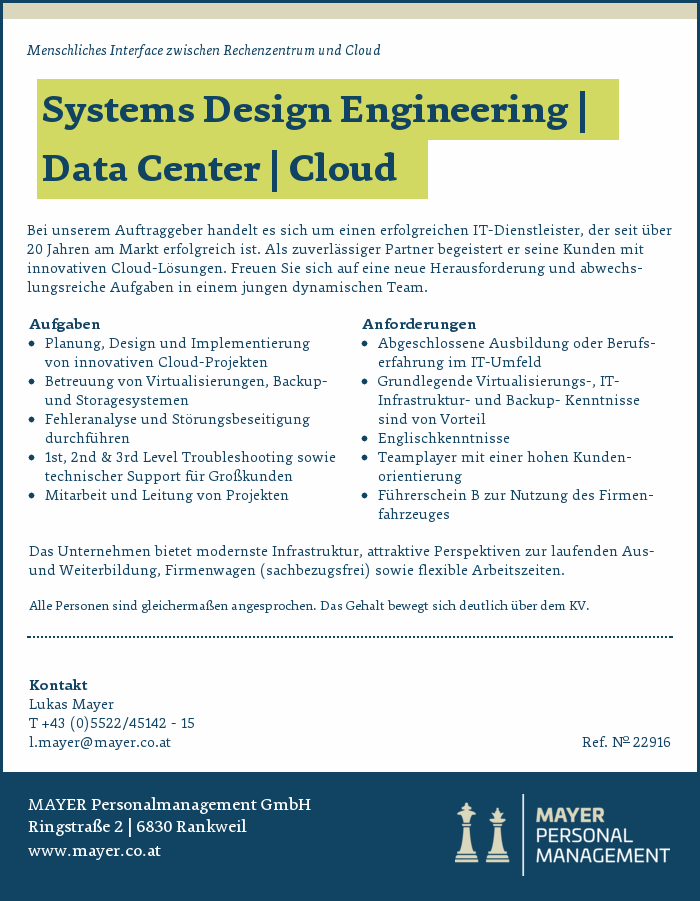 Systems Design Engineering | Data Center | Cloud
