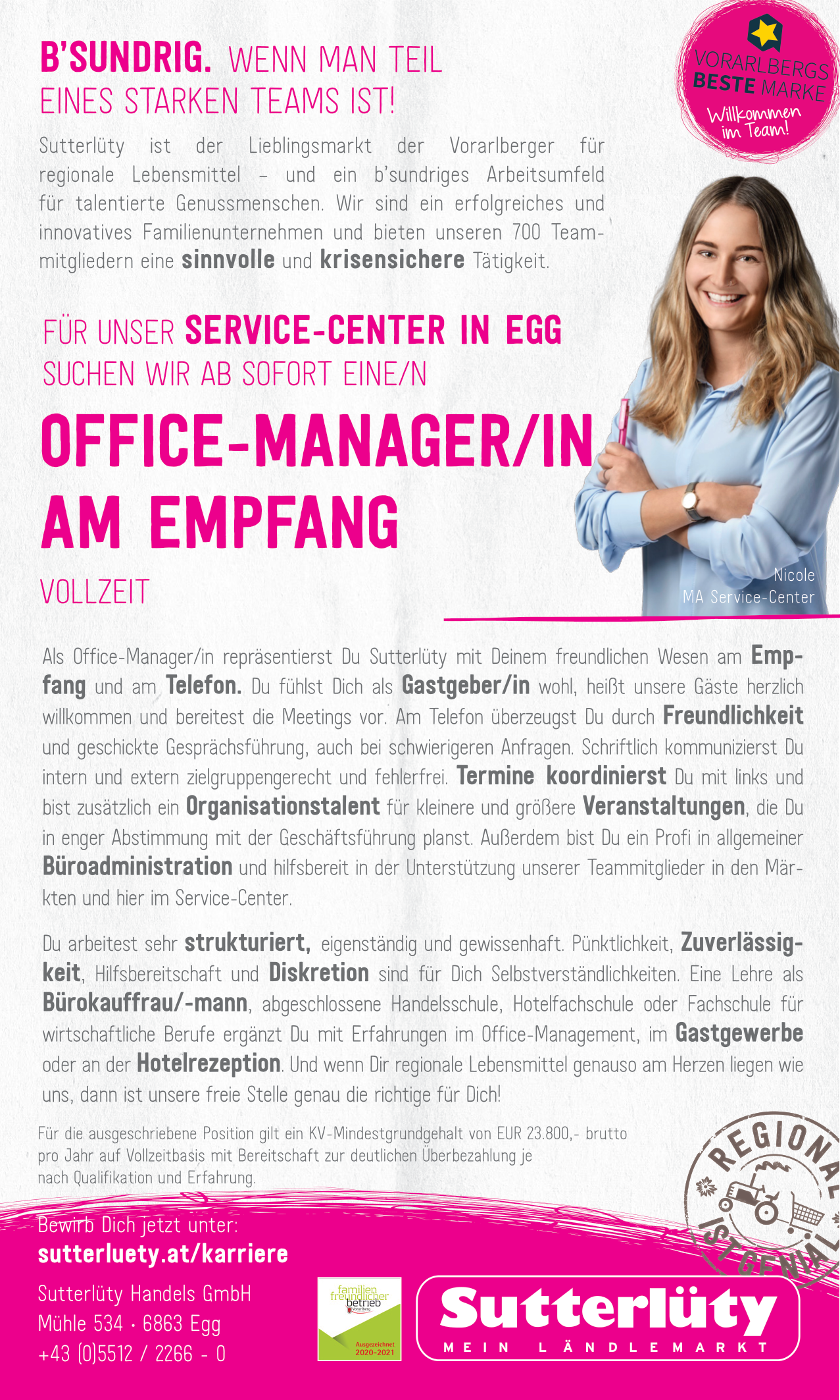 Office-Manager/in am Empfang