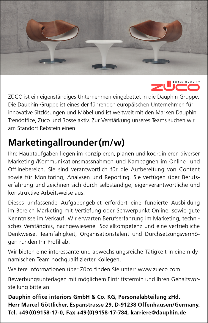 Marketingallrounder (w/m)