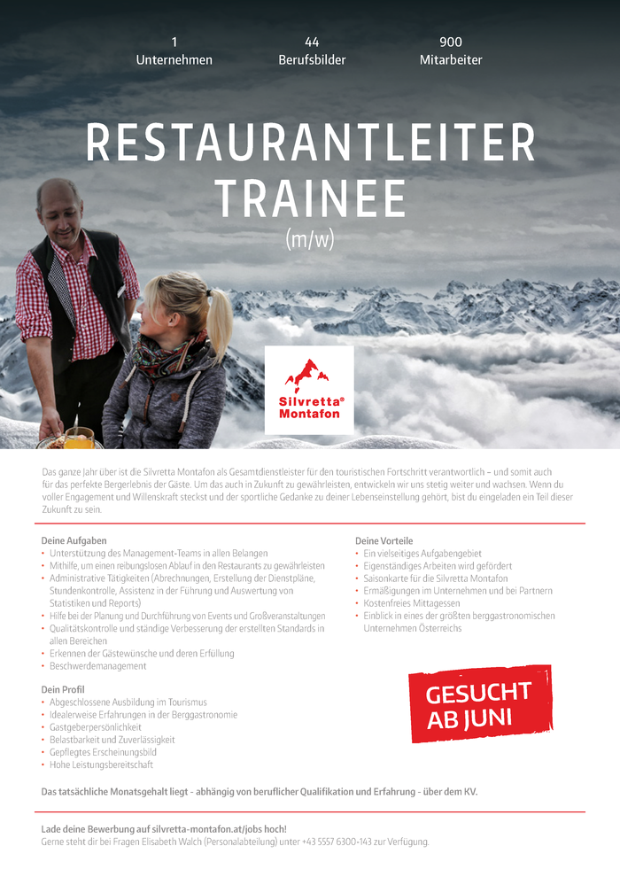 Restaurantleiter-Trainee (m/w)