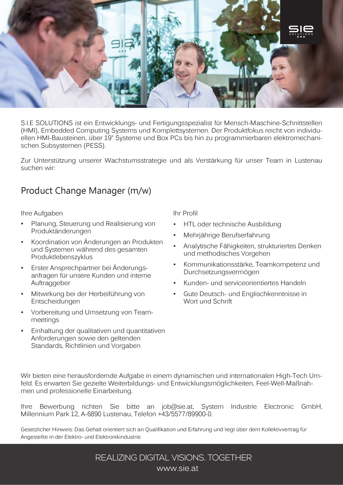 Product Change Manager (m/w)