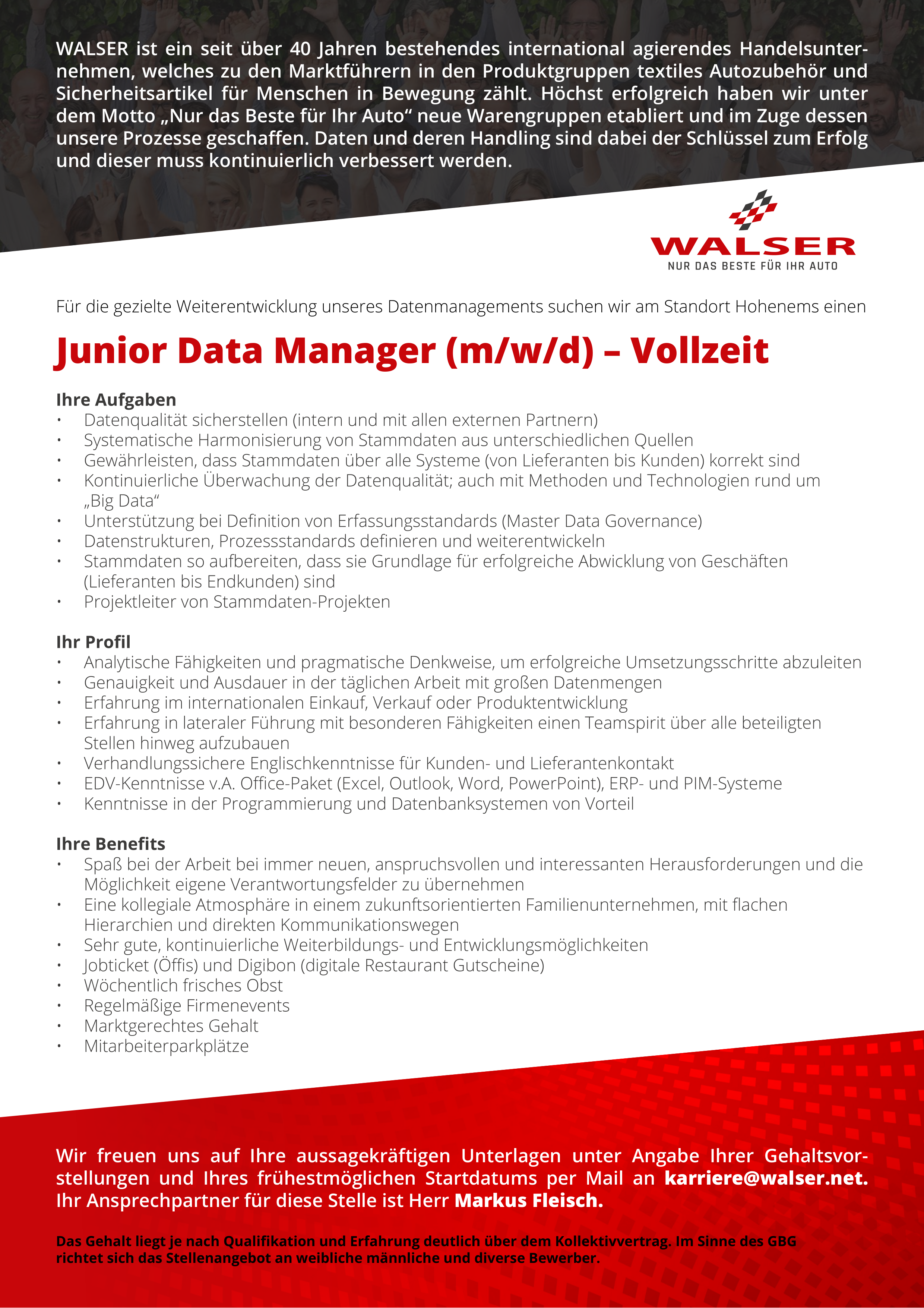 Junior Data Manager (m/w/d)