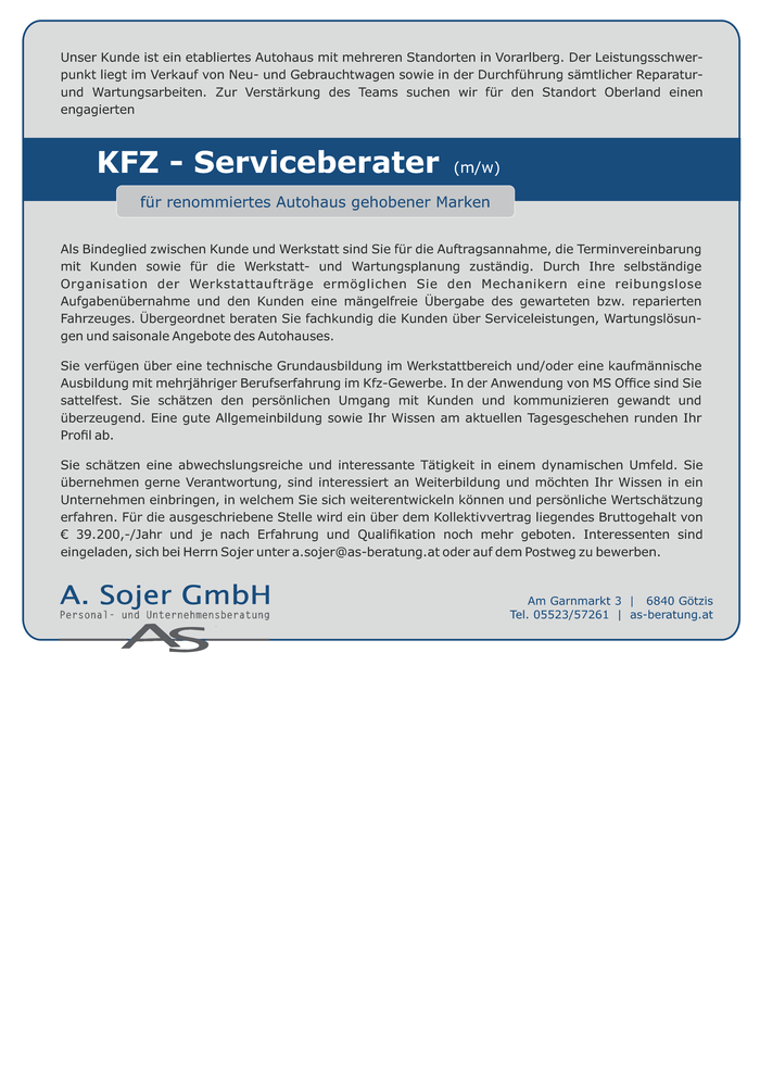 KFZ-Service Berater
