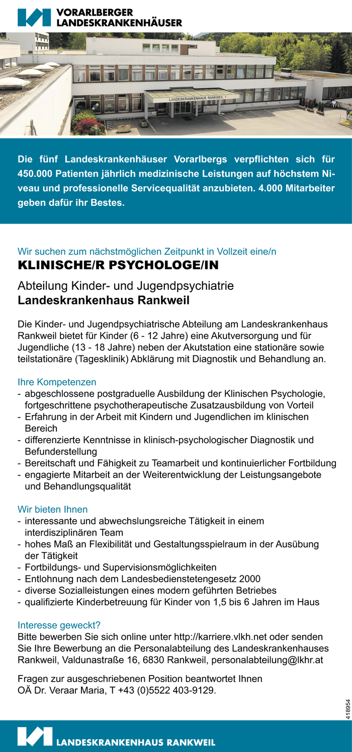 Klin. Psychologe/in