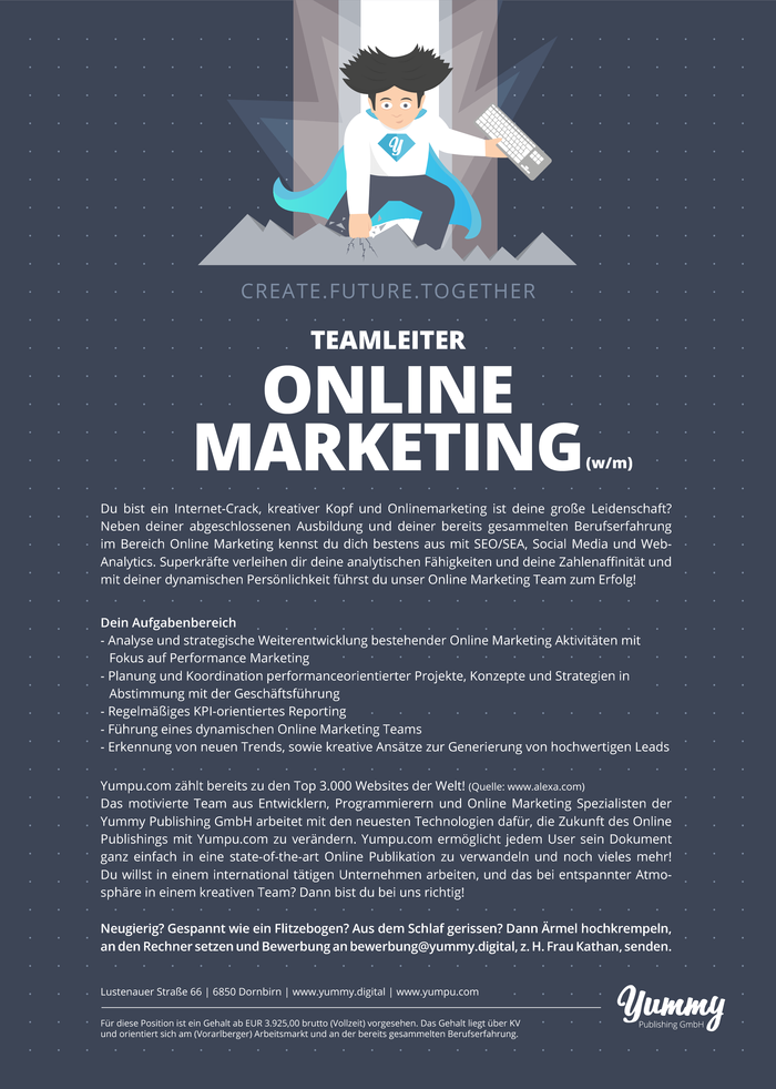 Teamleiter Online Marketing (w/m)