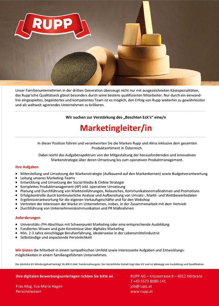 Marketingleiter/in