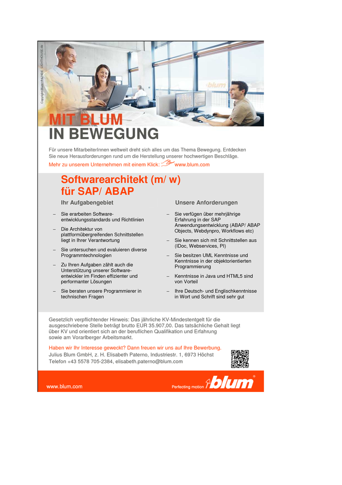 Softwarearchitekt (m/w) für SAP/ABAP