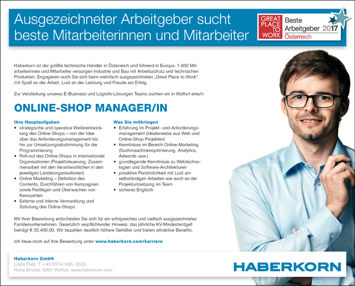 Online-Shop Manager/in