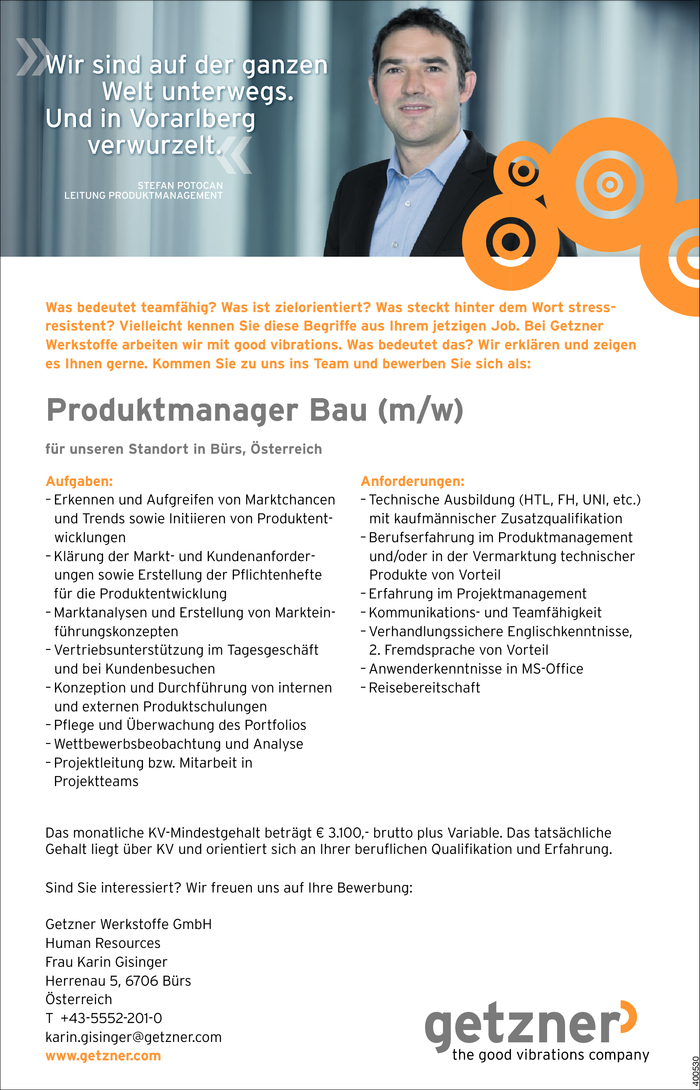 Produktmanager/in Bau