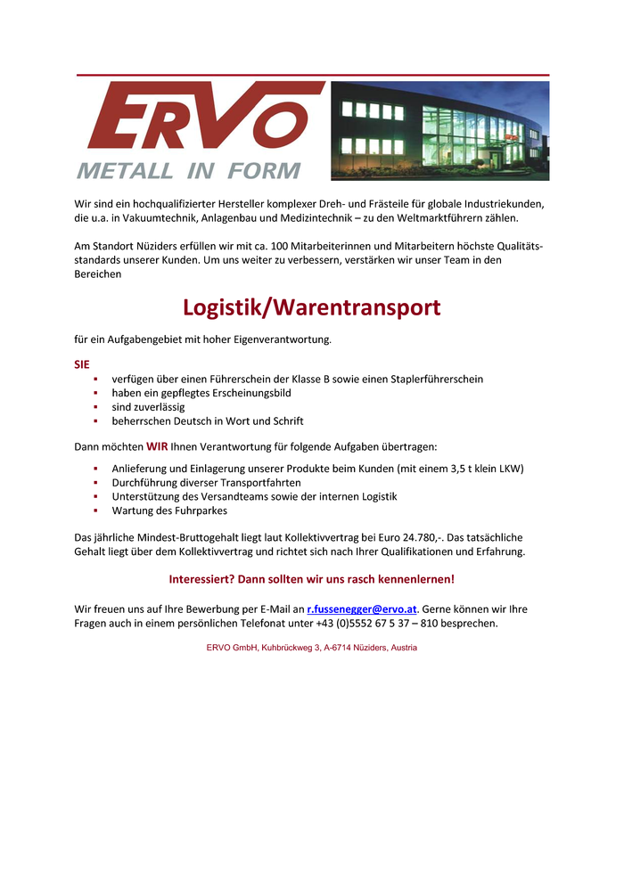 Logistik/Warentransport