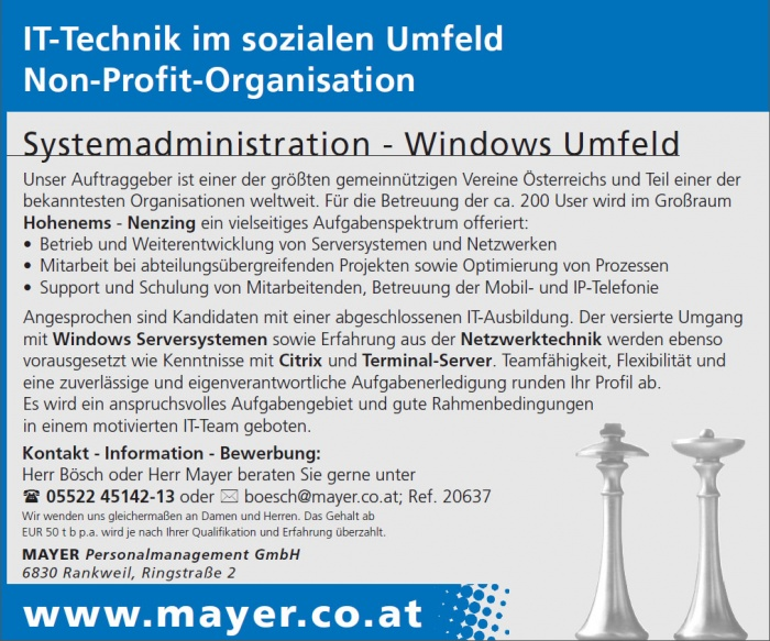 Systemadministration - Windows Umfeld