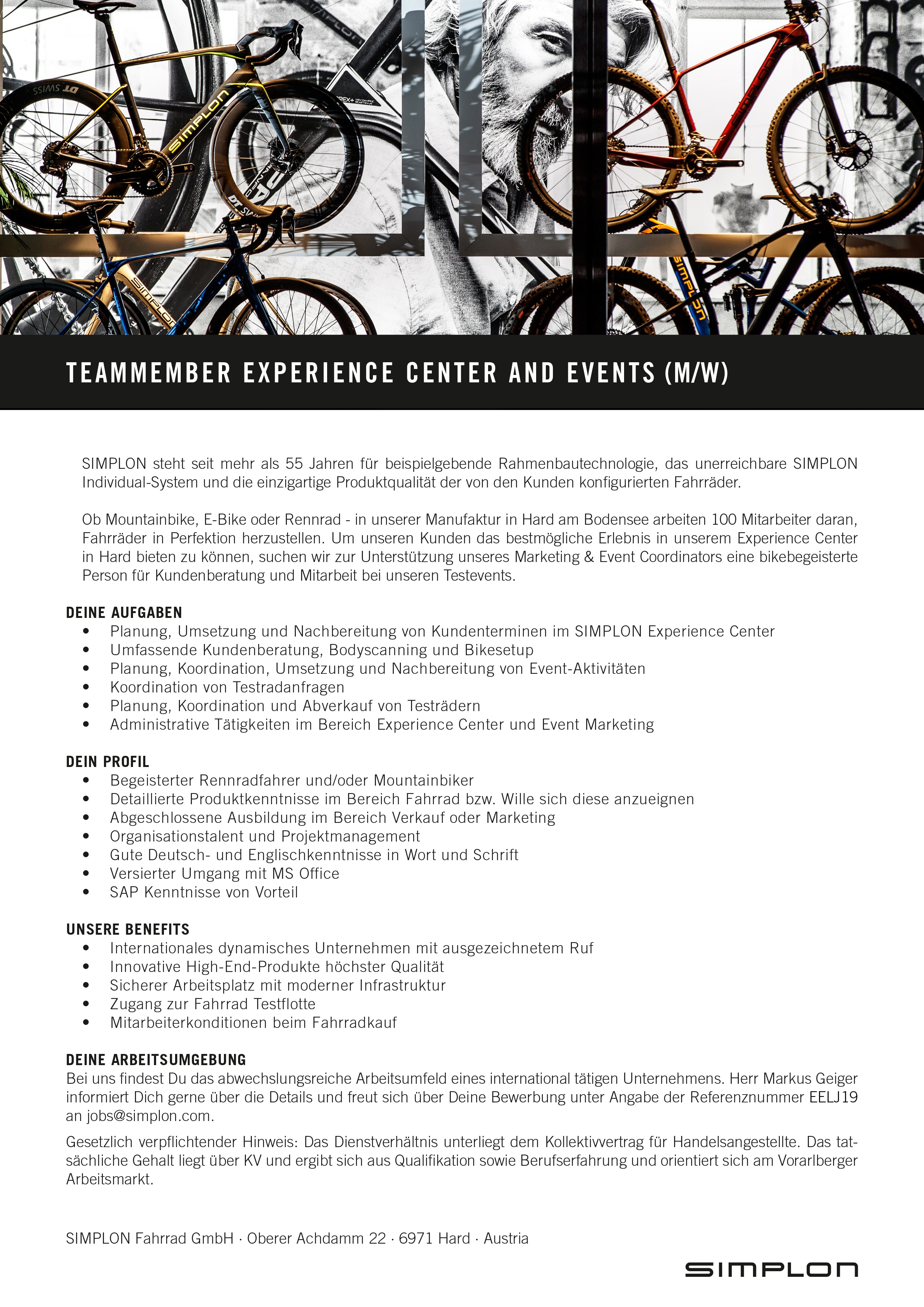 Teammember (m/w) Experience Center and Events