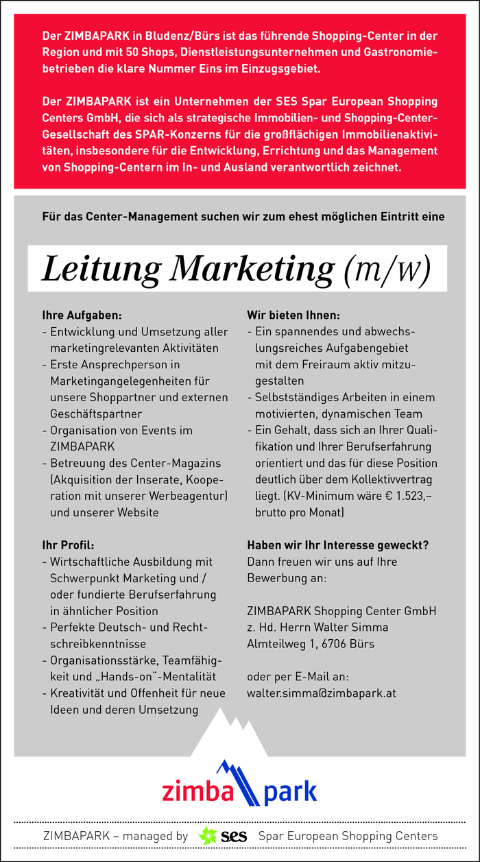 Leitung Marketing