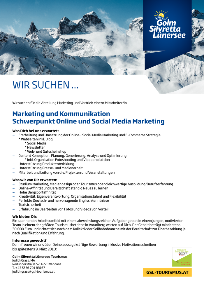 Marketing und Kommunikation - Online und Social Media Marketing