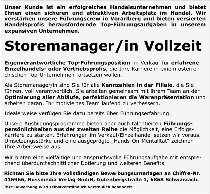 Storemanager/in