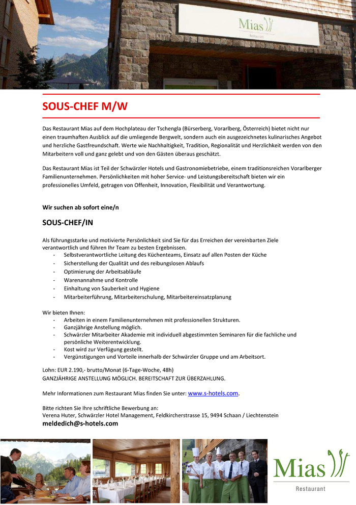 SOUS-CHEF/IN