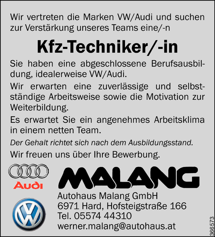 Kfz-Techniker/in