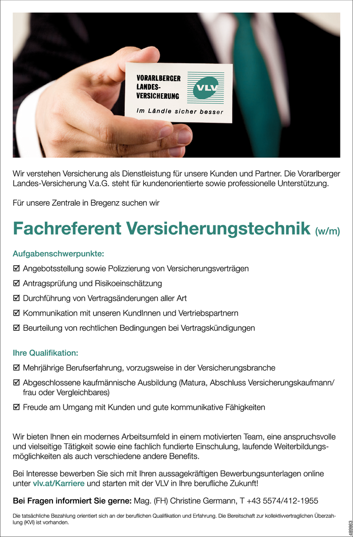 Fachreferent/in Versicherungstechnik