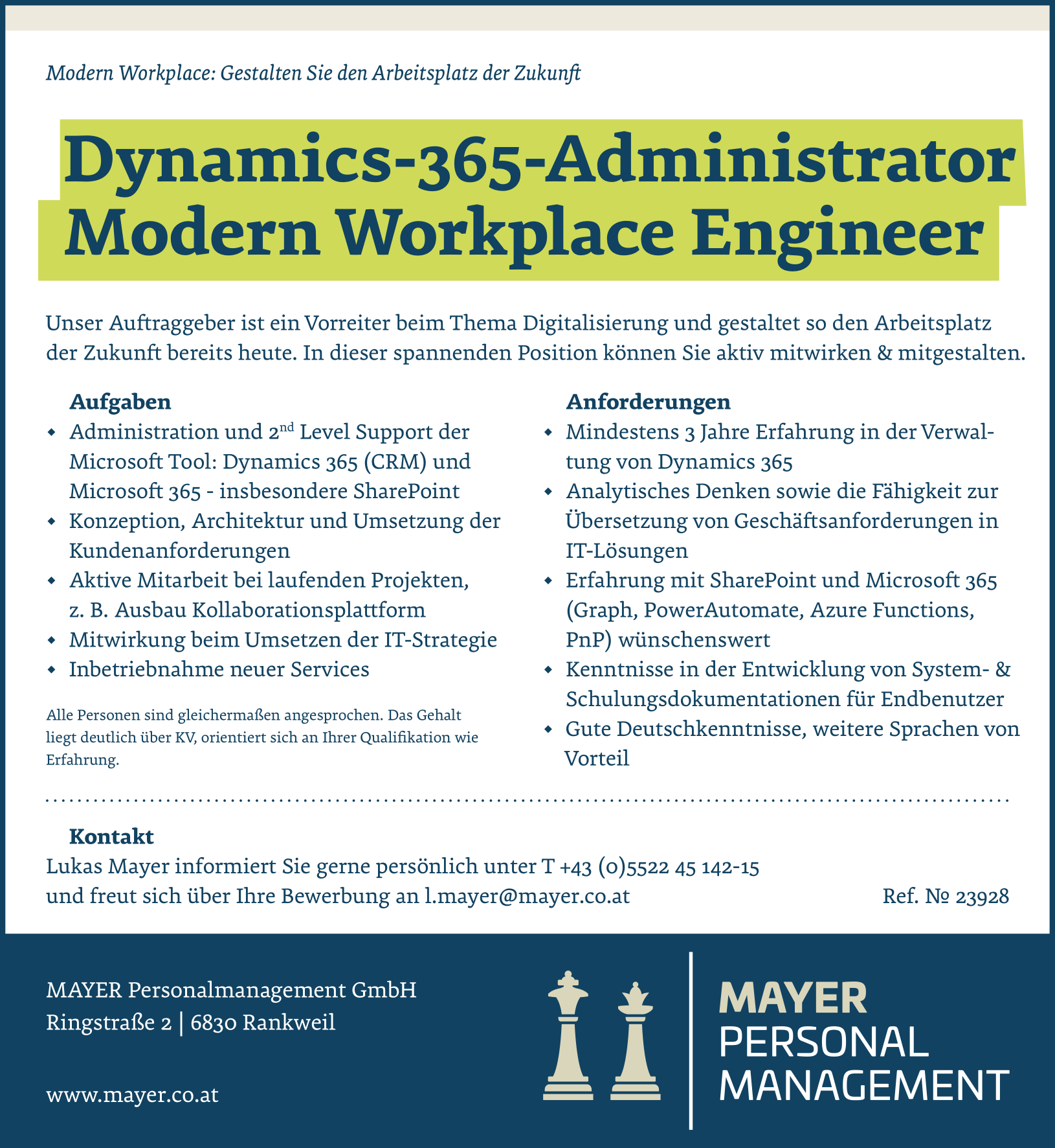 Dynamics-365-Administrator Modern Workplace Engineer