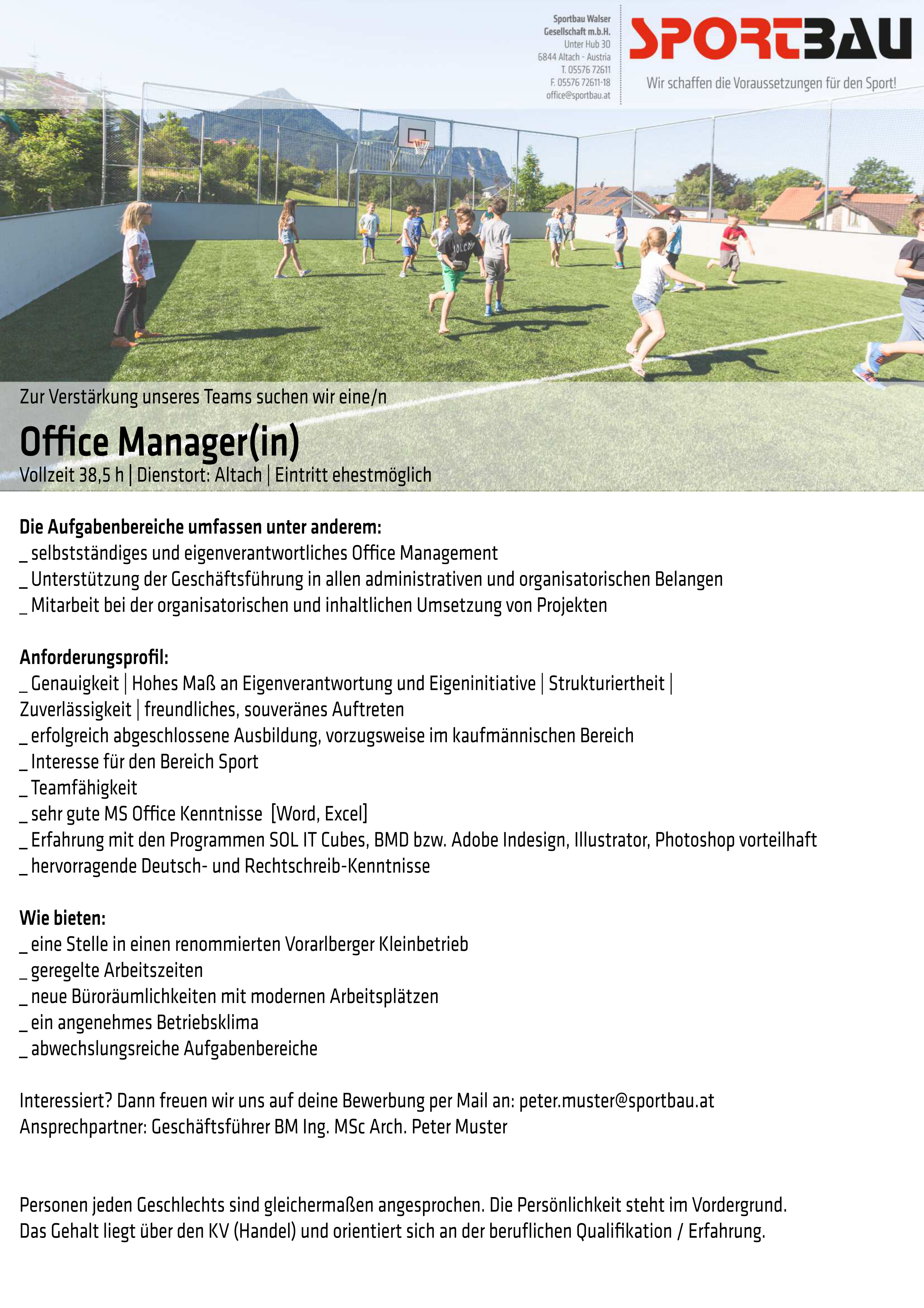 Office Manager(in)