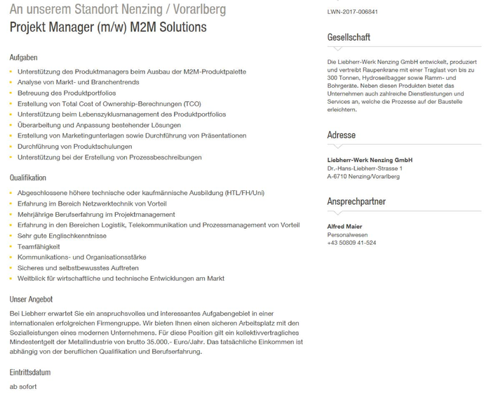 Projekt Manager (m/w) M2M Solutions